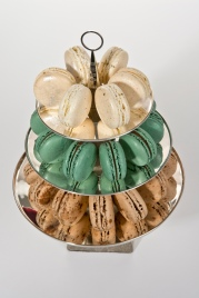 Sterling silver and Derbyshire limestone Petit Four stand, commissioned by Sheffield Assay Office. Macarons provided by showmejoni.com